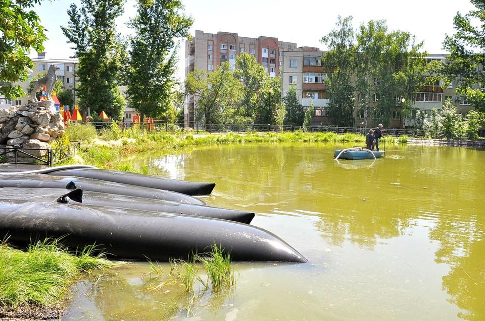 Озеро обещают очистить от грязи