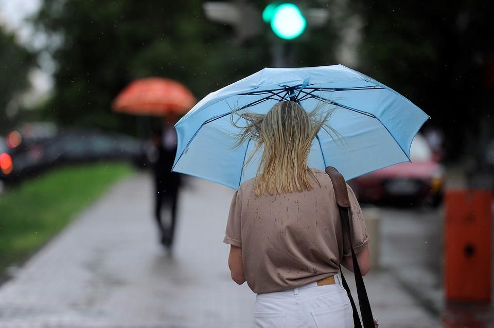 В городе пойдет дождь.