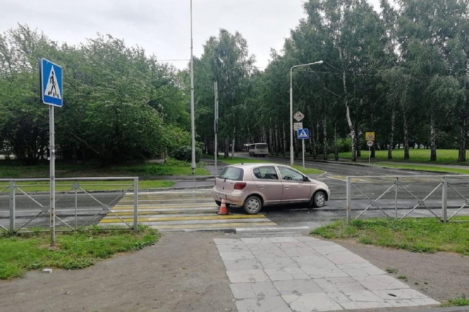 В Новосибирске женщина за рулем иномарки сбила 70-летнюю пенсионерку. Фото: ГИБДД по НСО.
