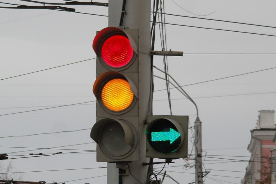 Они перебегали дорогу на запрещающий знак светофора
