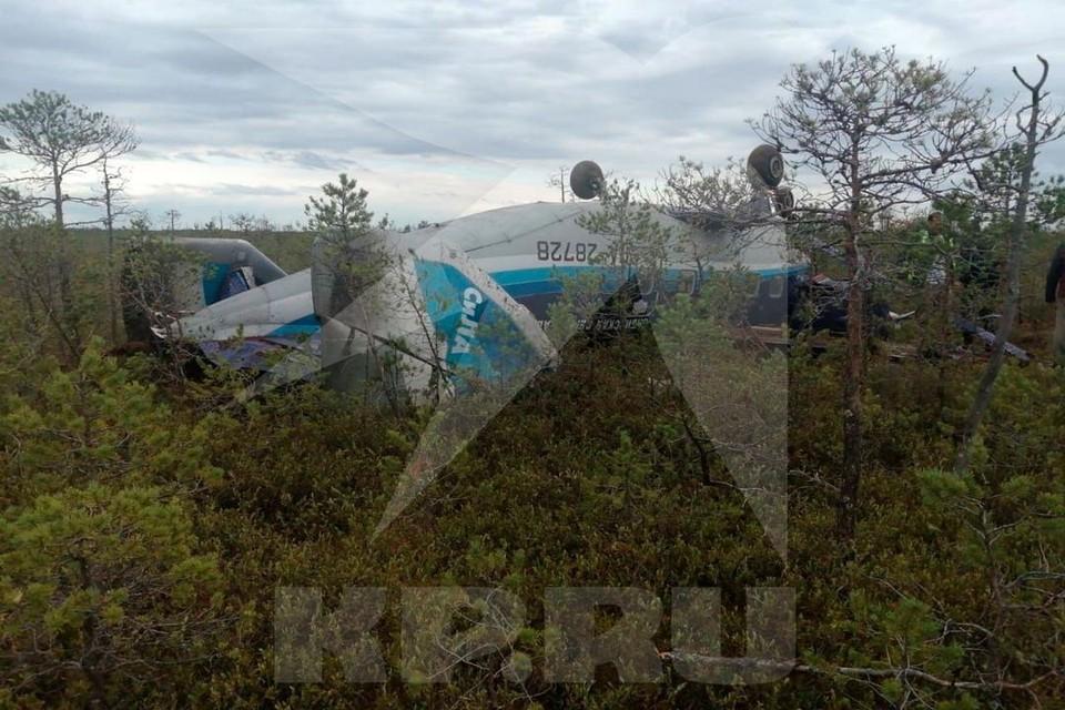 Посадка была жесткой, но все пассажиры остались живы. Фото: ФКУ Сибирский авиационный поисково-спасательный центр