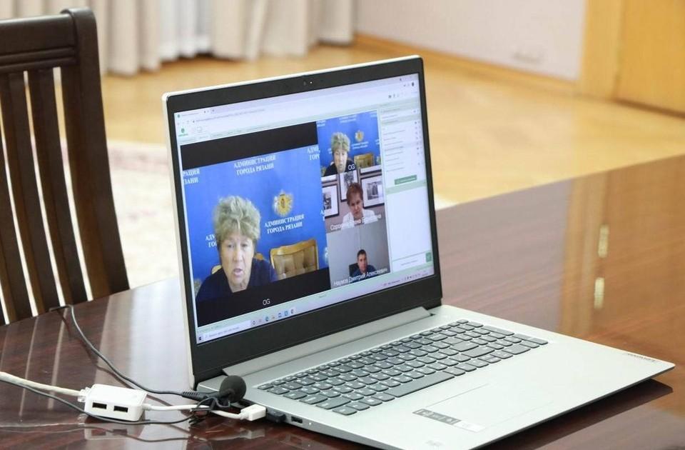 Фото с онлайн-приема предоставлено пресс-службой администрации Рязани