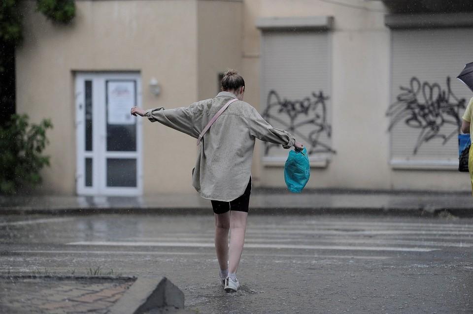 В воскресенье весь будет идти дождь