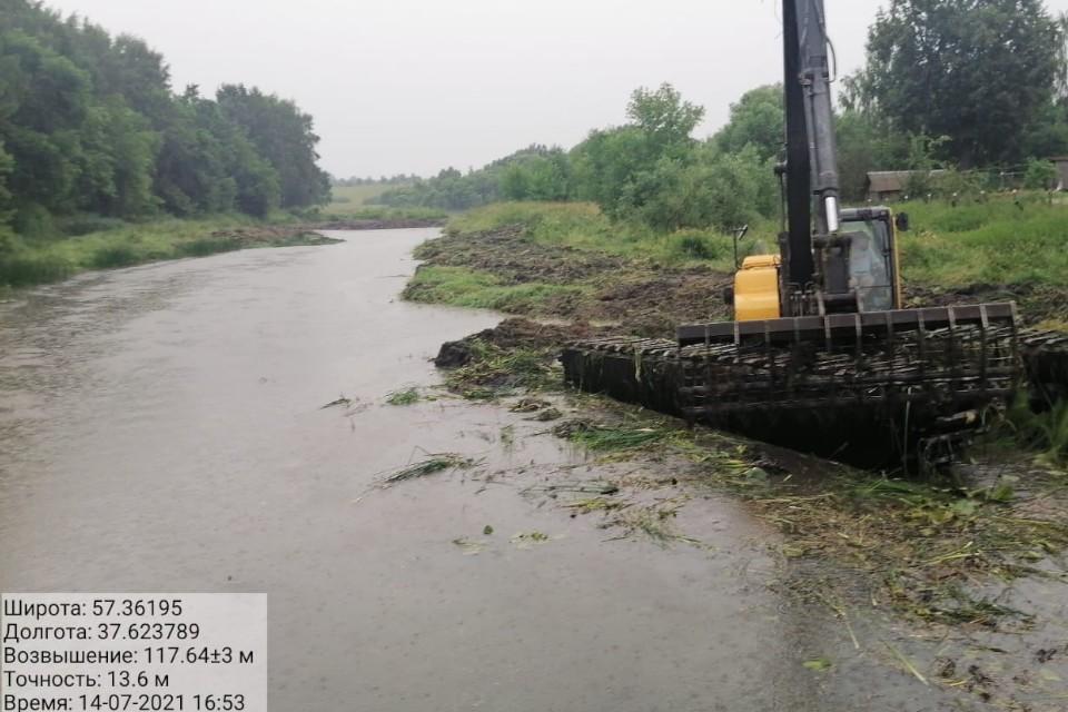 Полностью расчистить участок реки планируют в 2022 году.