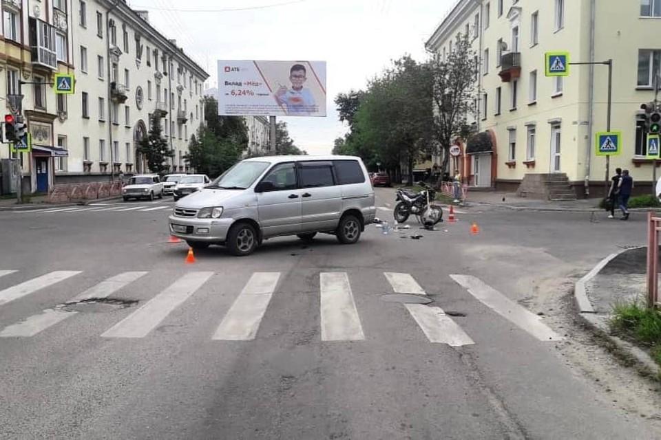 """16-летний мотоциклист столкнулся с """"Тойотой"""" в Ангарске"""