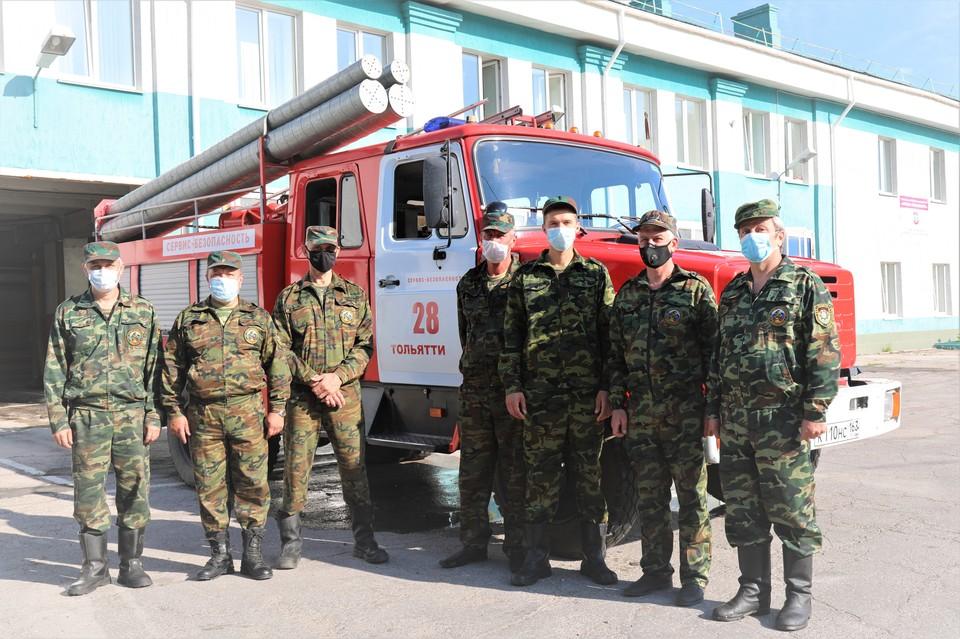 """Пожарные """"Тольяттикаучука"""" отметились смелыми действиями"""