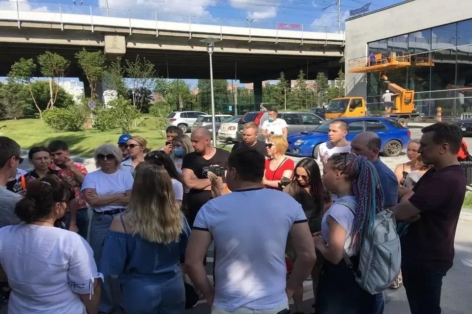 """Жители ЖК были категорически против строительства дороги. Фото: предоставлено жителями ЖК """"Флотилия""""."""