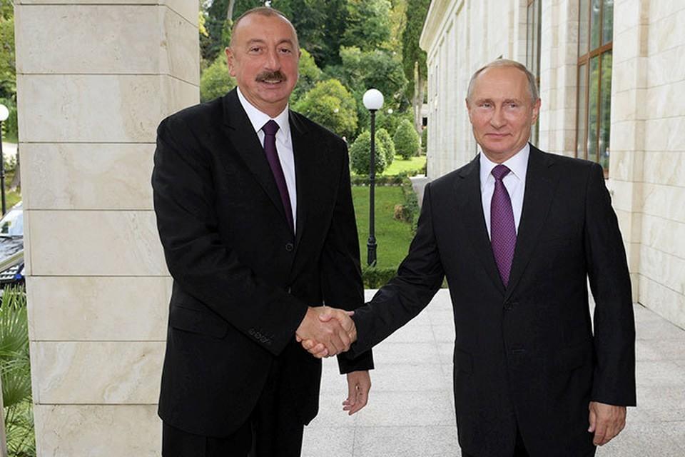 Путин встретится с Алиевым 20 июля 2021 в Москве