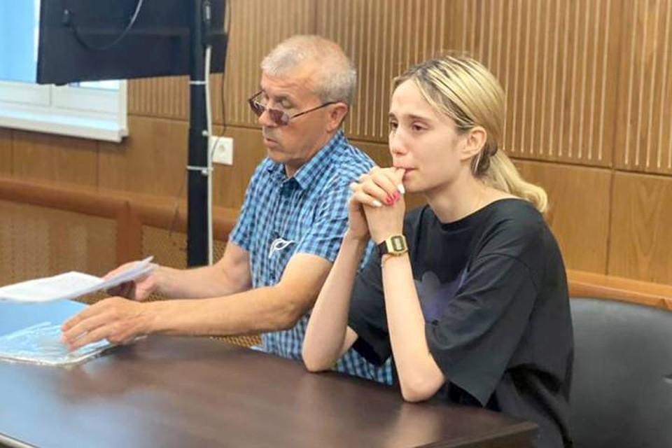Валерия Башкирова на заседании суда. Фото: Пресс-служба Тверского суда