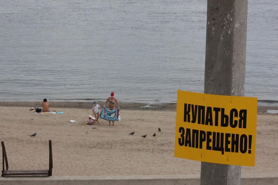 Вода на Тулака грязная, купаться санитарные врачи не разрешают.