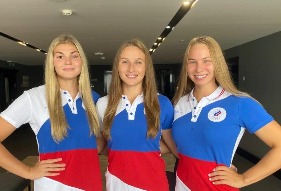 Мария Берснева, Эльвина Каримова и Евгения Головина (слева-направо) выступят на Олимпиаде-2021 в Токио.