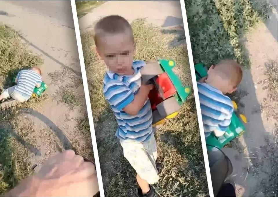Кадры с найденным спящим мальчиком опубликовали в сети. Фото: скриншот видео из сообщества «Типичный Челябинск»