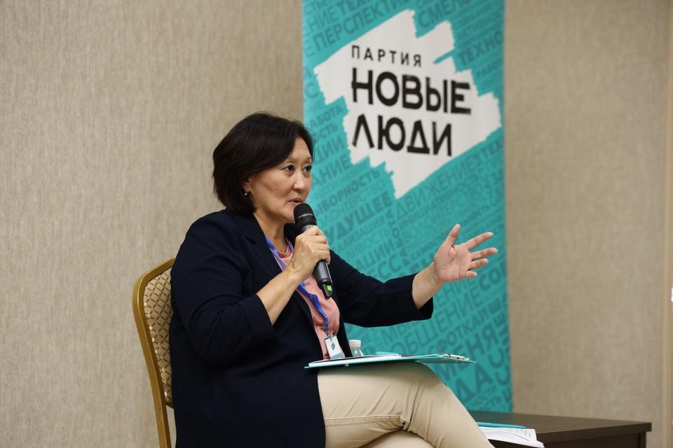 Сардана Авксентьева, кандидат партии «Новые люди»: Необходимо выстраивать прямой диалог граждан и власти.