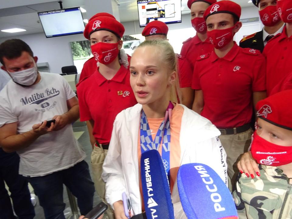 Ангелина Мельникова прилетела в Воронеж сразу после Олимпиады, немного отдохнула и вновь отправилась в Москву.