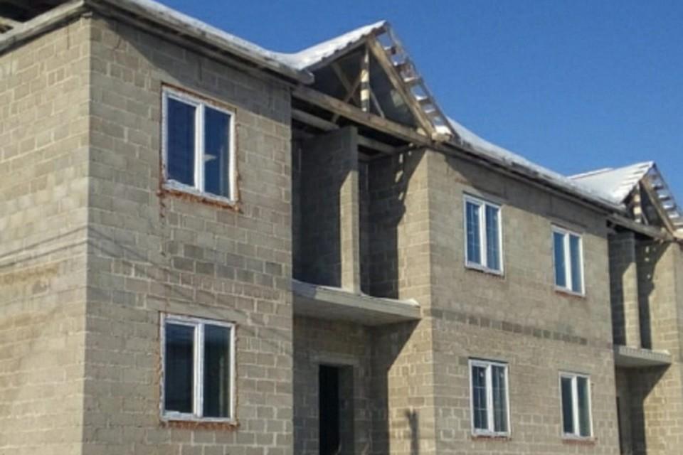 Степень готовности домов в коттеджном поселке составляет 35-90%