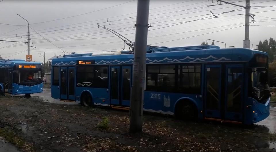 """""""Очередь"""" троллейбусов"""