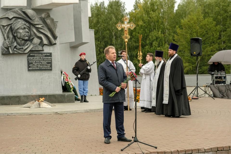 Геннадий Коновалов почтил память солдат, павших во Второй мировой войне. Фото: zsko.ru