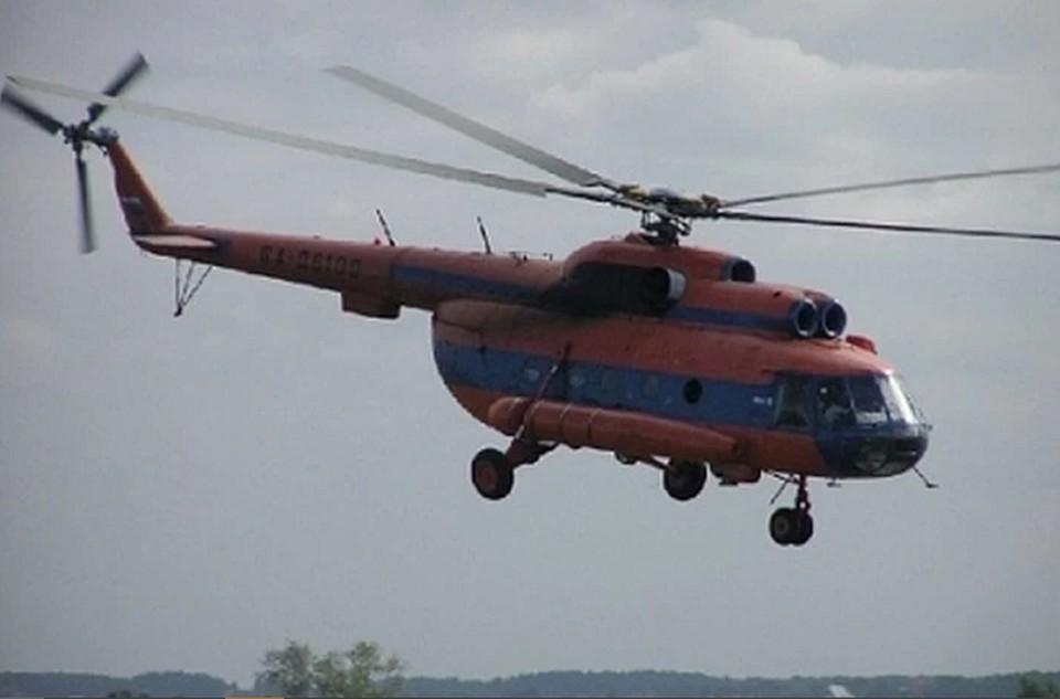 Вертолет был направлен в Соликамск для транспортировки пострадавшего ребенка. Фото: СКР по Пермскому краю.