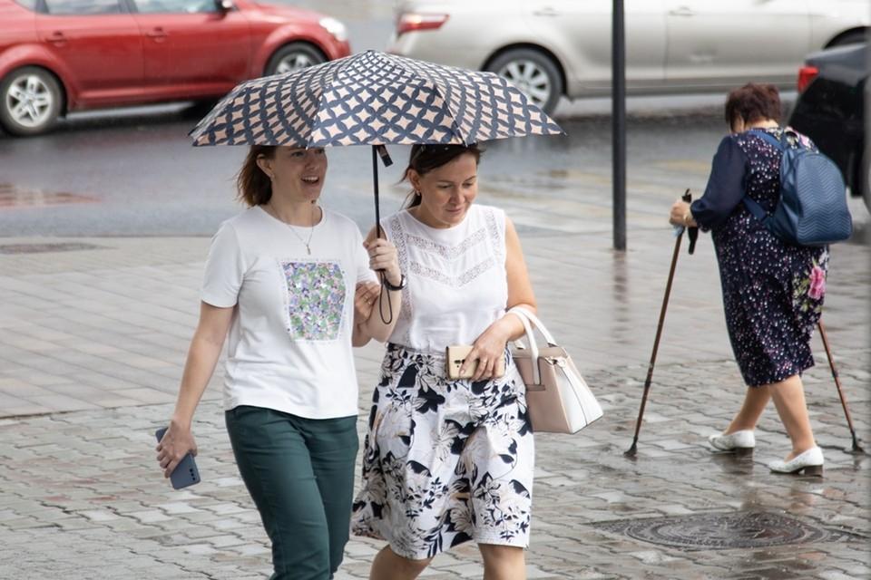 Ясная погода будет сменяться дождями.