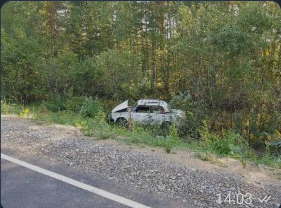 В Тюменской области нырнула в кювет машина с пьяным водителем и его тещей.