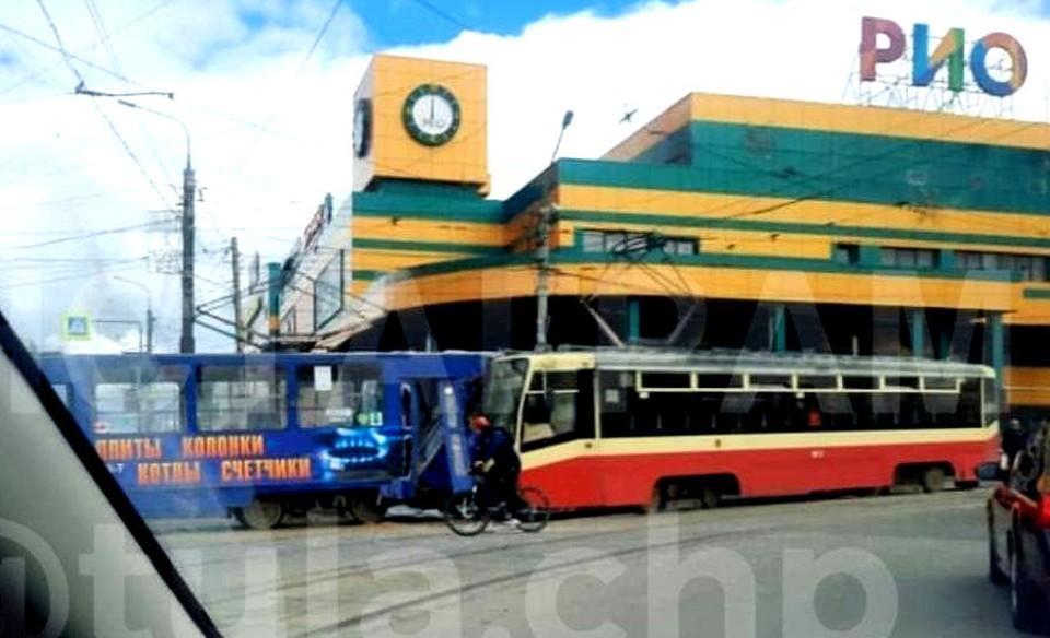 В Туле прокуратура начала проверку после лобового столкновения двух трамваев