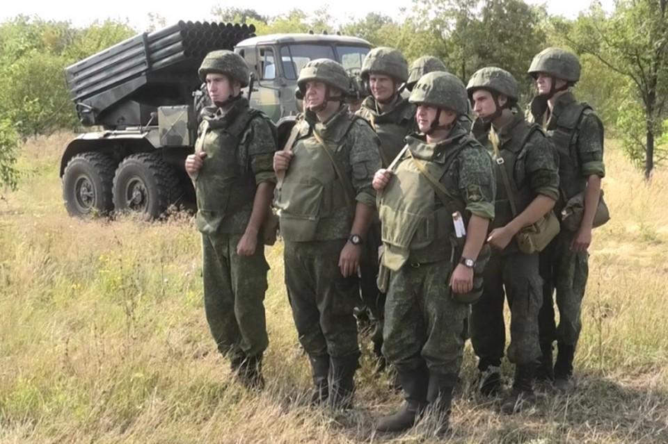 Военнослужащие Республики провели учения. Фото: НМ ДНР