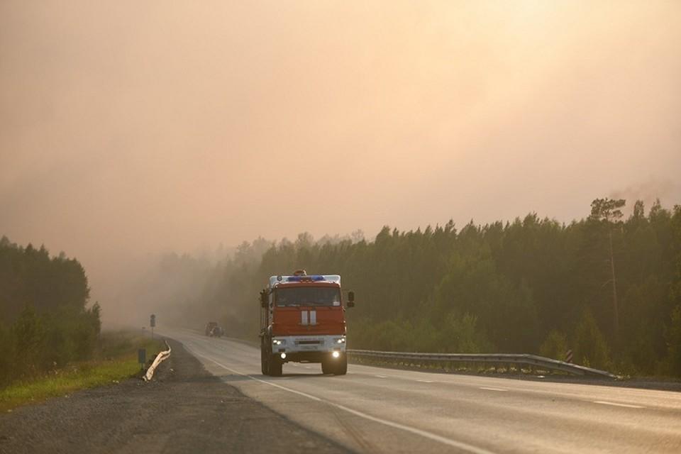 Угрозы распространения пожаров на населенные пункты нет