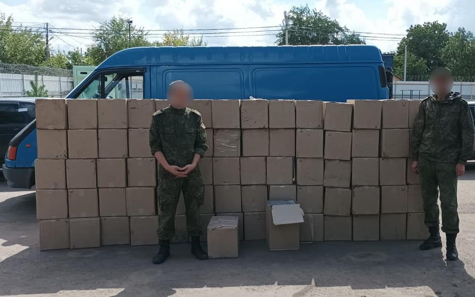 В Ростовской области поймали сигаретных контрабандистов. Фото: Пограничное управление ФСБ по РО