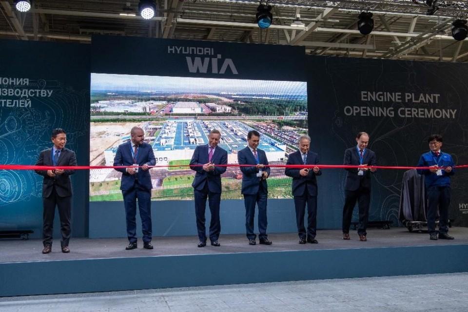 В Петербурге открыли крупнейший в России завод по выпуску двигателей. Фото: hyundai.ru