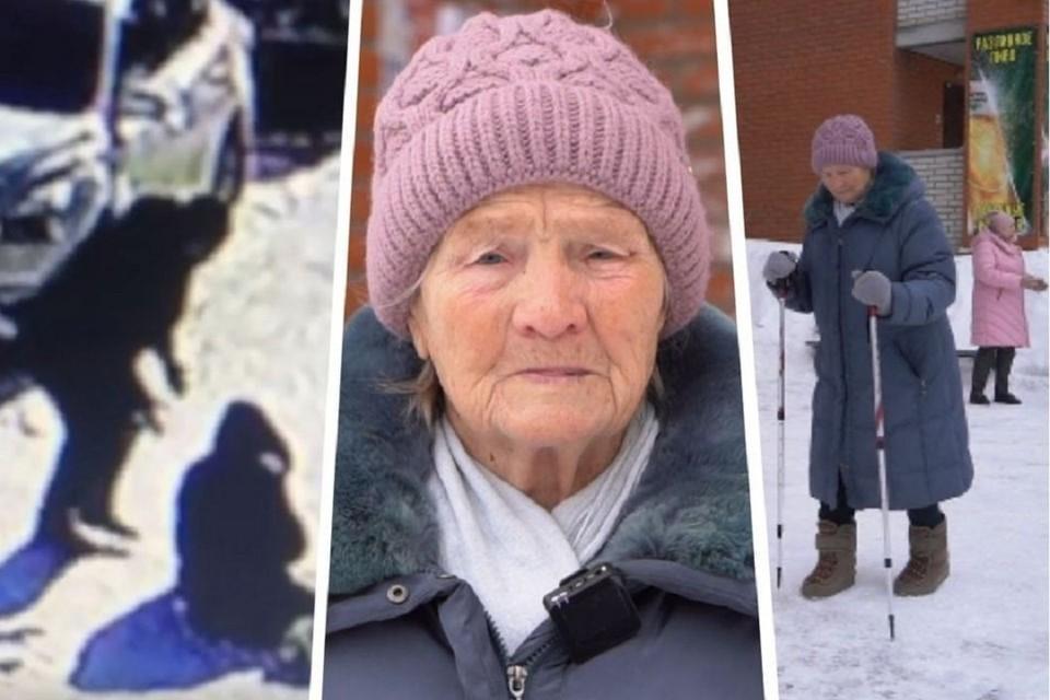 Суд вынес приговор сибиряку, пнувшему ради забавы 83-летнюю пенсионерку. Фото: стоп-кадр // предоставлено героем публикации.
