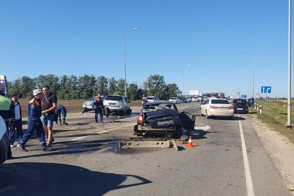 В аварии пострадал один из водителей. Фото: отдел пропаганды УГИБДД