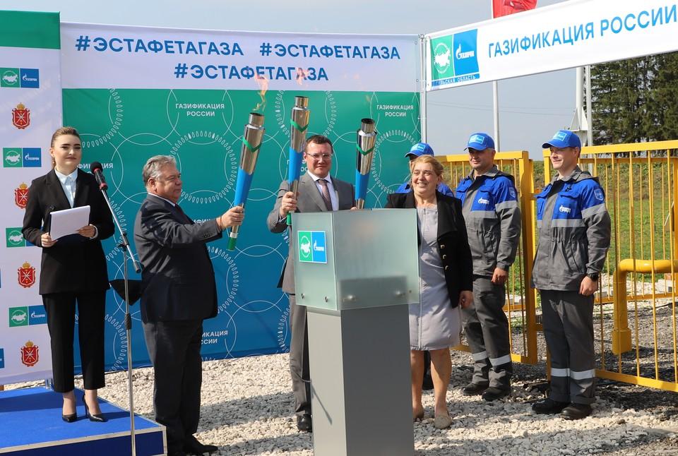 В Одоевском районе Тульской области введен в эксплуатацию межпоселковый газопровод к с. Лосинское.