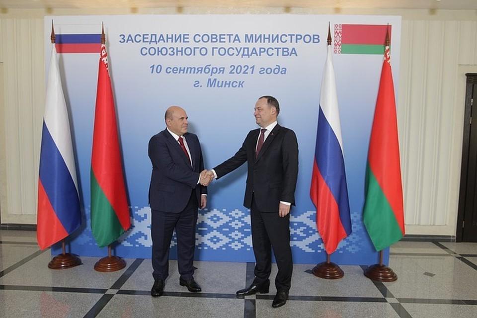 10 сентября, Михаил Мишустин прилетел в Минск на заседание Совета министров Союзного государства.