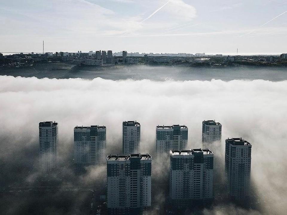 Сказочный туман окутал Нижний Новгород 11 сентября