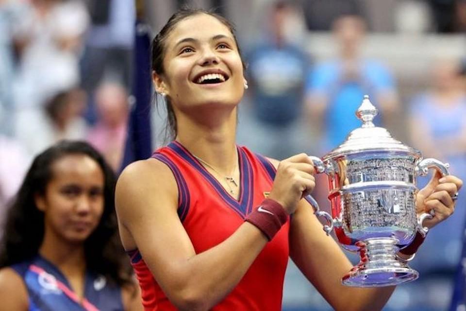 Победительница US Open девятнадцатилетняя британка Эмма Радукану. Фото: Getty Images