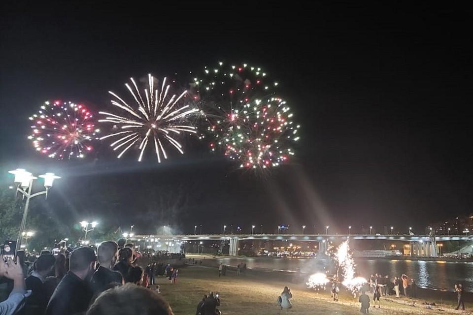 Празднование Дня города завершилось грандиозным фейерверком. Фото: ПОПОВА Екатерина
