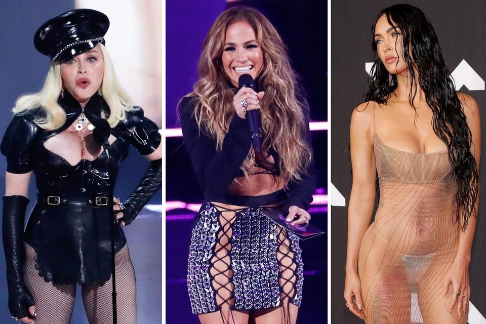 Мадонна, Дженнифер Лопес и Меган Фокс.