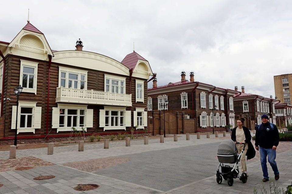 Реставрация красноярского исторического квартала завершена. Фото: пресс-служба города