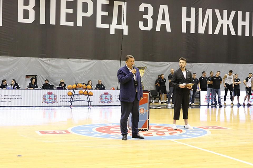 Олег Лавричев принял участие в открытии первого баскетбольного турнира Кубок Хайретдинова.