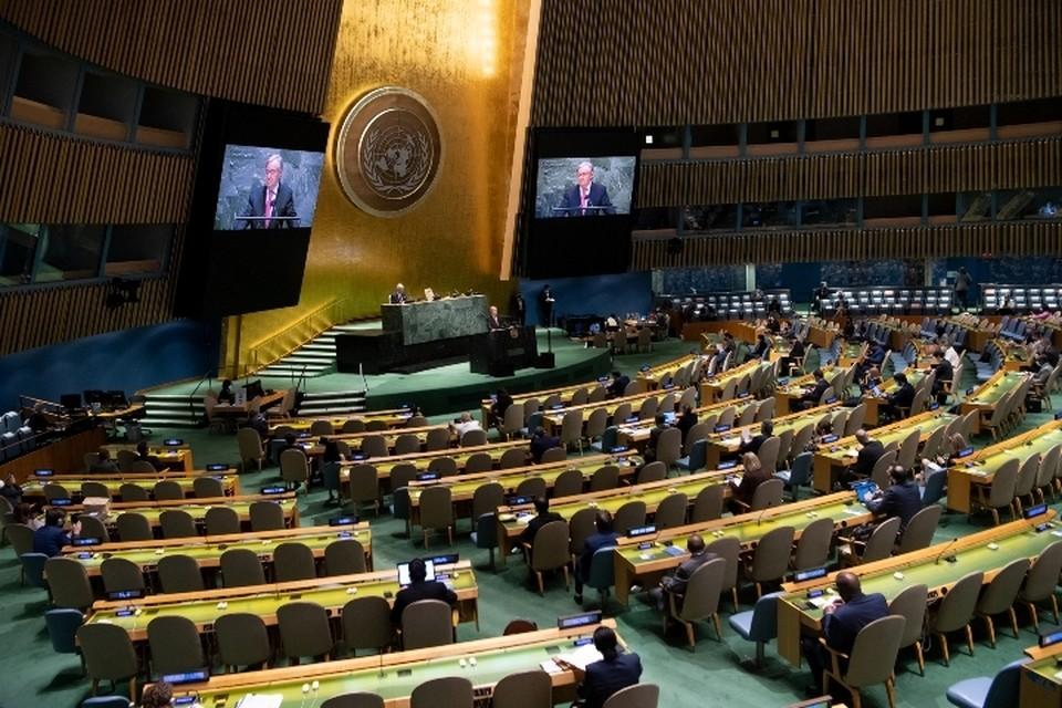 В начале сессии Генассамблеи к участникам обратился генеральный секретарь ООН Антониу Гутерриш