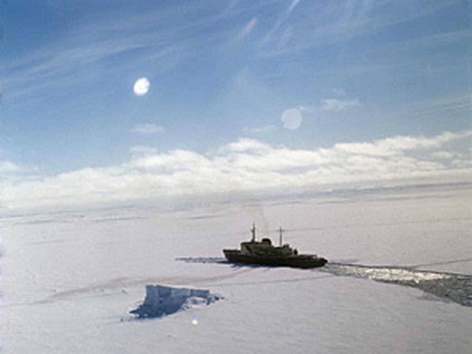 На помощь нашему судну вышел ледокол из Новой Зеландии
