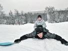 На скользких склонах парка и в морозы жарко!