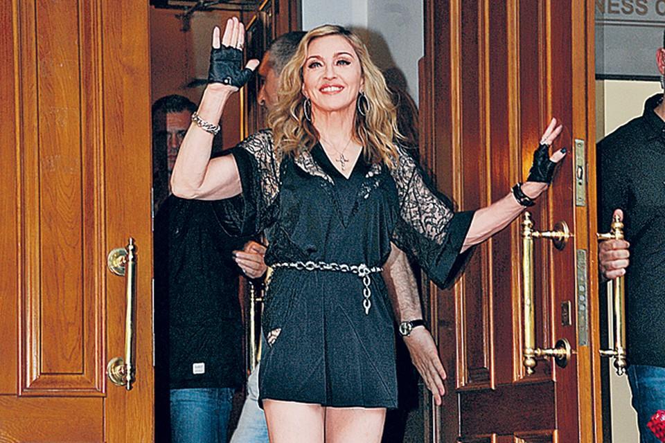 Российские звезды посчитали, что Мадонна отнеслась к ним прохладно