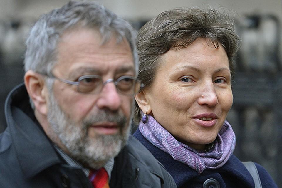 Александр Гольдфарб с вдовой Александра Литвиненко Мариной Литвиненко