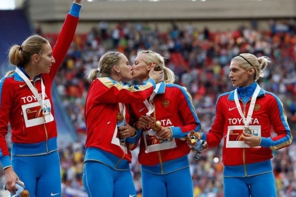 Европейские СМИ: Поцелуй бегуний - послание Исинбаевой или русская традиция?