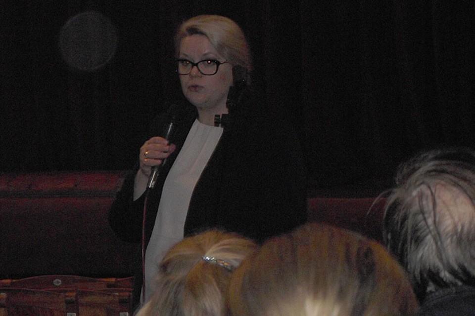 Елена Ищенко не встретила понимания у большинства работников театра, пришедших на встречу.