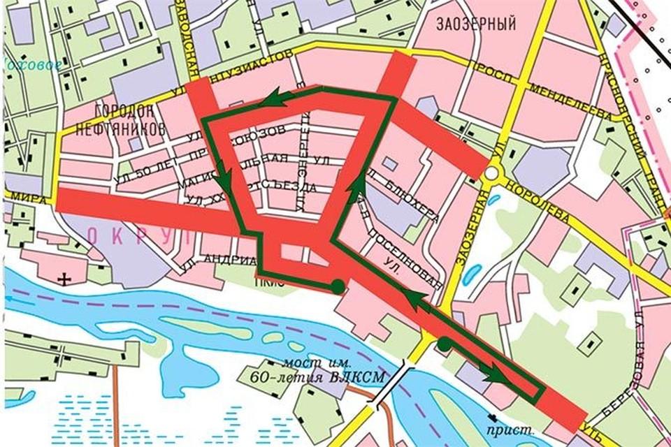 Карта для омичей на 9 декабря: какие улицы и во сколько перекроют
