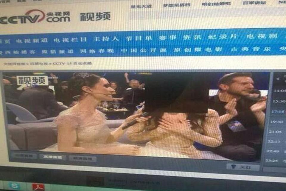 В Поднебесной закрыли лицо победителя Евровидения черным квадратом