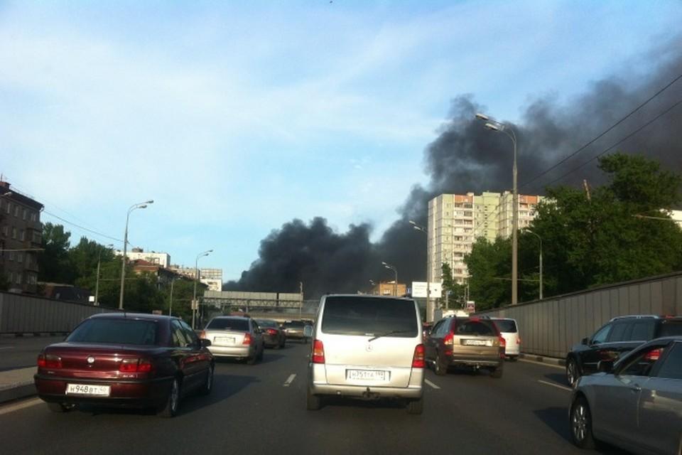 Это уже второй пожар на платформе «Ржевская» за последние три дня