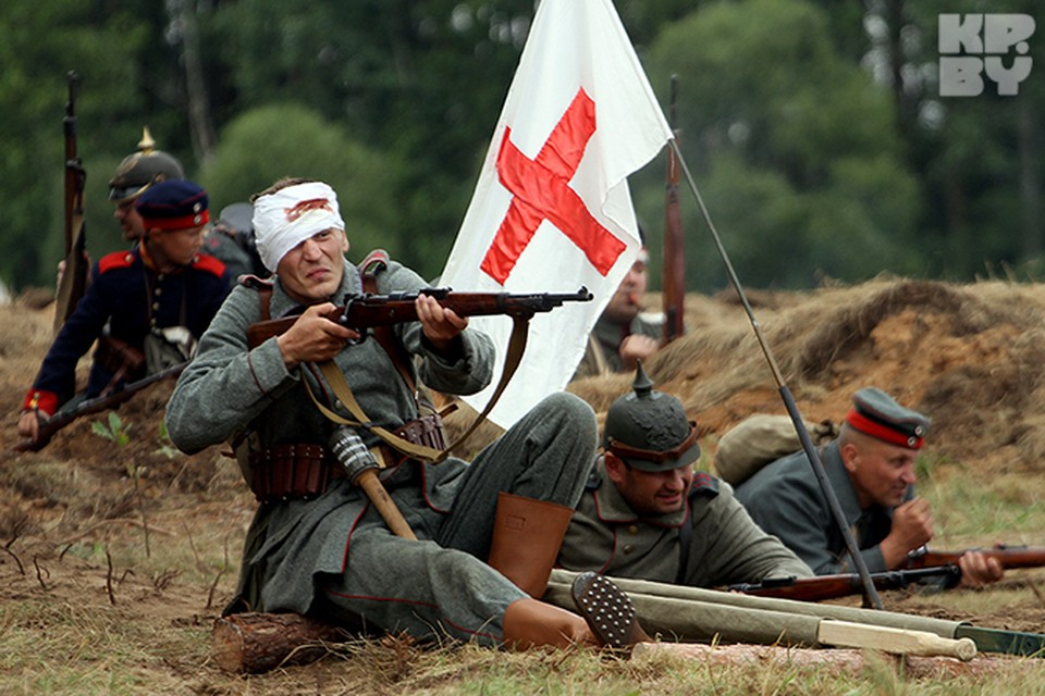 В день 100-летия начала первой мировой войны в Сморгони провели реконструкцию боев.